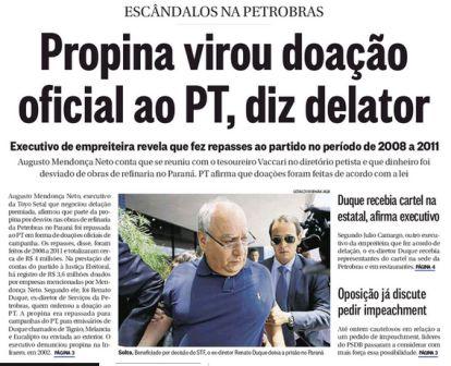 Doações de campanha, ilícitos, Dilma - PT