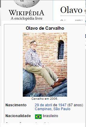 Perfil de Olavo de Carvalho sofre constantes ataques.