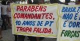 militares, salarios, soldos, manifestação