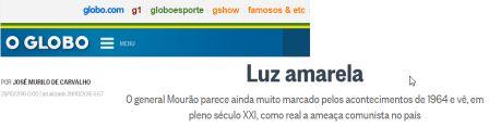 Texto de MURILO. Luz amarela globo