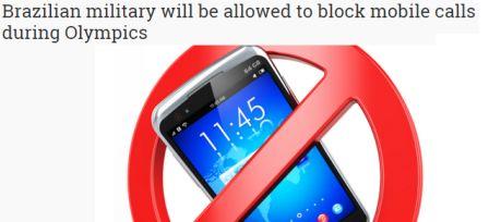 MILITARES mobile block bloquear celulares no brasil