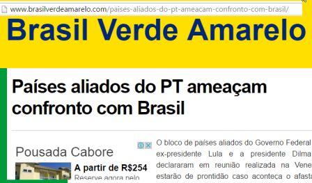 mentiras ataque da unasul ao brasil