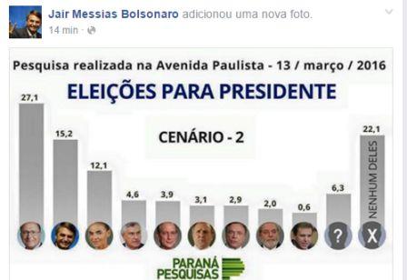Bolsonaro criticado presidente manifestações
