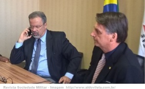 Bolsonaro e jungmann ministro da defesa