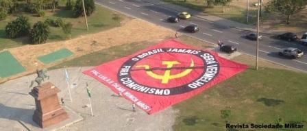 bandeira gigante comunismo