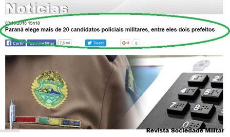 policiais eleitos vereadores