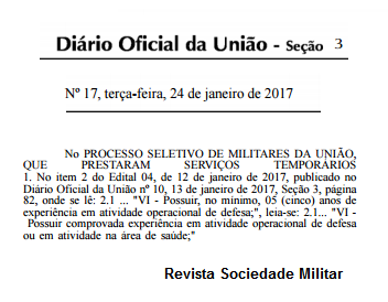 edital militares força nacional