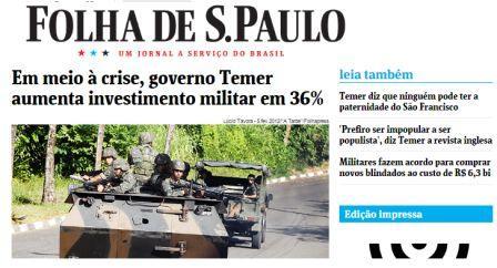 aumento do investimento para as forças armadas