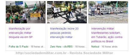 intervenção militar manifestações
