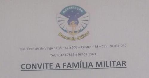 convite bancada militar