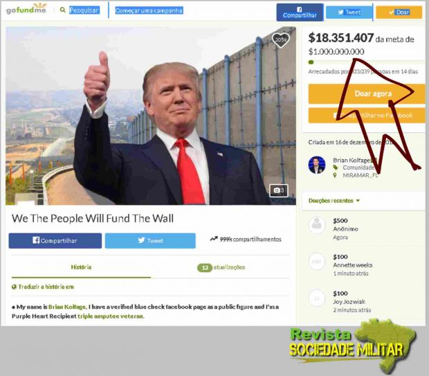 gofundme donald trump wall money