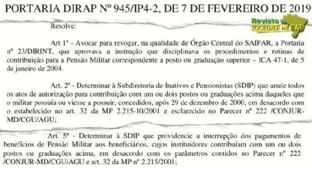 PORTARIA PENSÕES FAB MP 2215